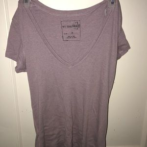 Free People Lavender T-shirt